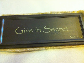 give in secret