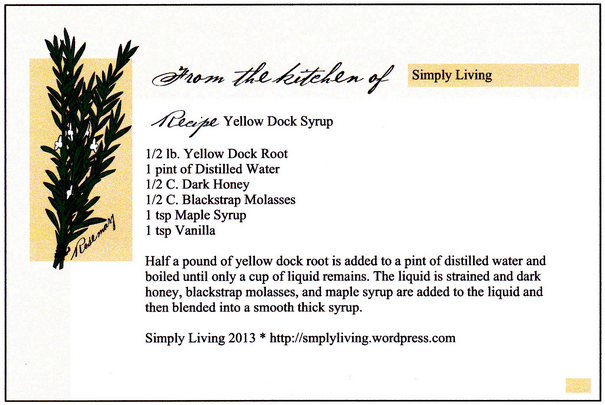 Yellow Dock Syrup