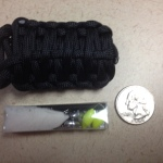 paracord grenade size